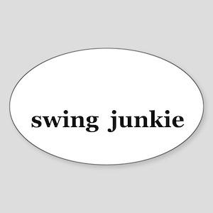 swing Oval Sticker