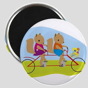 Squirrels on a Tandem Bike Magnets