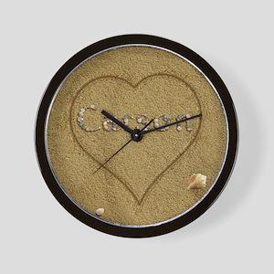 Carson Beach Love Wall Clock