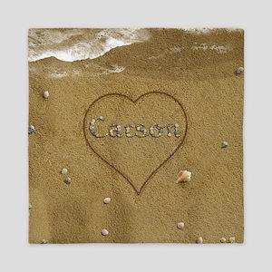 Carson Beach Love Queen Duvet