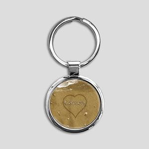 Carson Beach Love Round Keychain