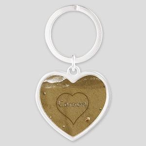 Carson Beach Love Heart Keychain