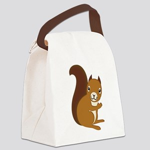 Adorable Squirrel Staring Hello a Canvas Lunch Bag