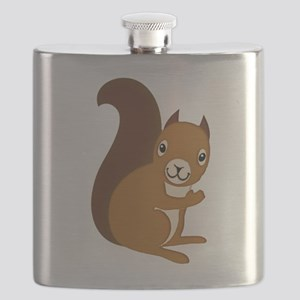 Adorable Squirrel Staring Hello at You Flask