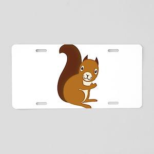 Adorable Squirrel Staring H Aluminum License Plate