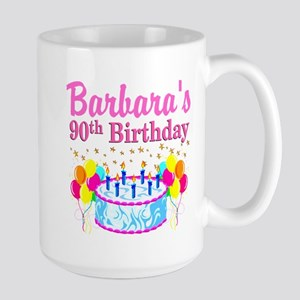 90 AND FABULOUS Large Mug
