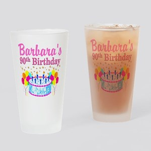 90 AND FABULOUS Drinking Glass