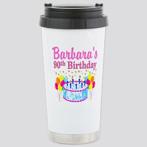 90 AND FABULOUS Stainless Steel Travel Mug