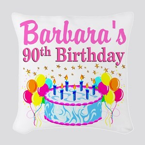 90 AND FABULOUS Woven Throw Pillow