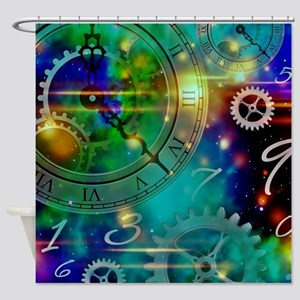Steampunk Time Universe Shower Curtain