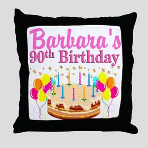 90 AND FABULOUS Throw Pillow