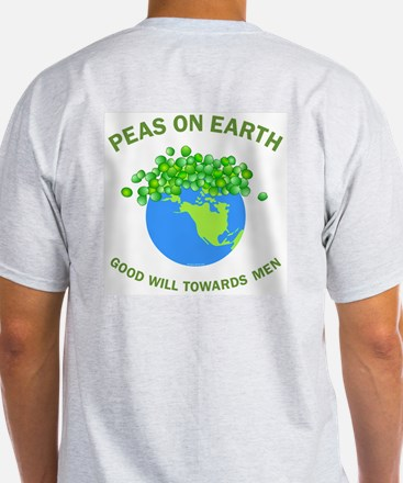 Peas on Earth Back Image T-Shirt