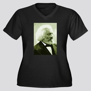 "Frederick Douglass ""Agitate!"" Women's Plus Size V-"
