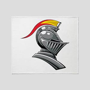 Medieval Soldier Helmet Throw Blanket