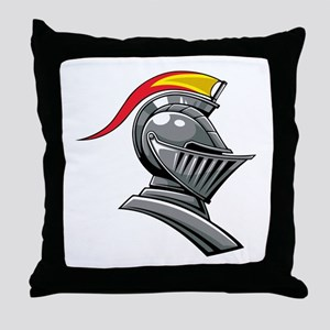 Medieval Soldier Helmet Throw Pillow
