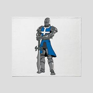 Medieval Knight Throw Blanket