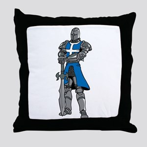 Medieval Knight Throw Pillow