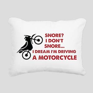 Snore Motorcycle Rectangular Canvas Pillow