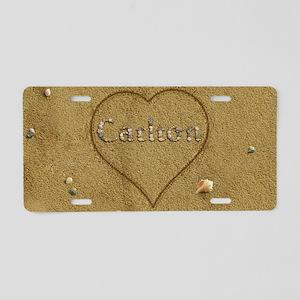 Carlton Beach Love Aluminum License Plate
