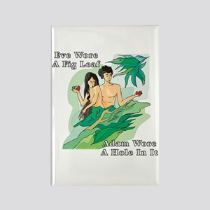 Adam and Eve Rectangle Magnet