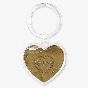 Carissa Beach Love Heart Keychain