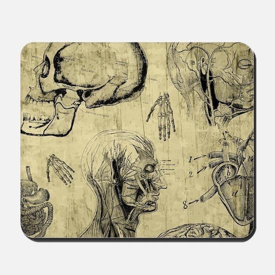 Vintage Human Anatomy Mousepad