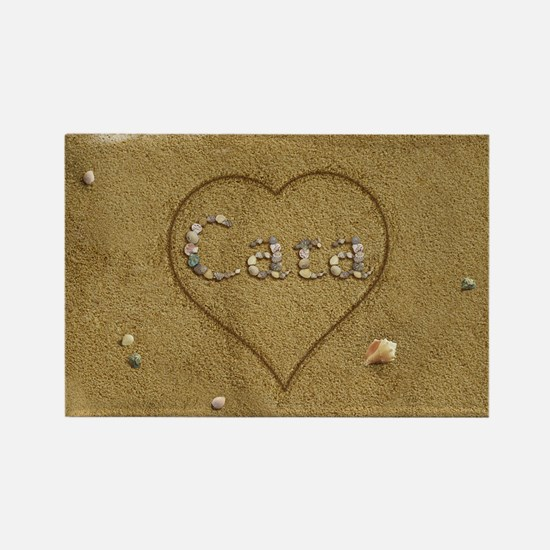 Cara Beach Love Rectangle Magnet