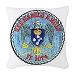 USS HAROLD E. HOLT Woven Throw Pillow