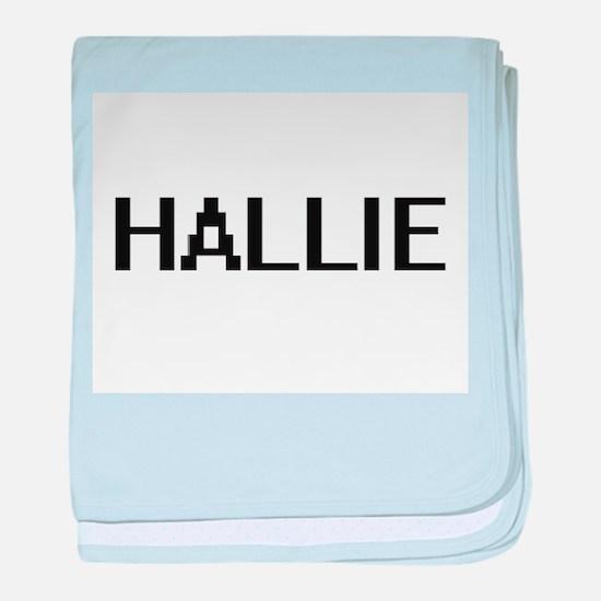 Hallie Digital Name baby blanket