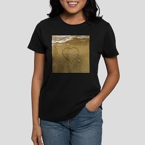 Camila Beach Love Women's Dark T-Shirt
