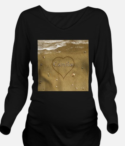 Camila Beach Love Long Sleeve Maternity T-Shirt