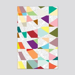 Abstract Colors Damask Mini Poster Print