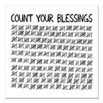 Count Your Blessings Square Car Magnet 3