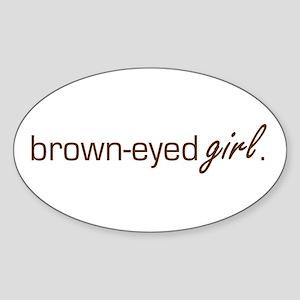 Brown-Eyed Girl Oval Sticker