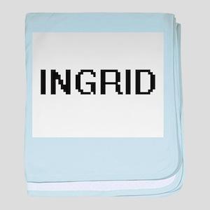 Ingrid Digital Name baby blanket