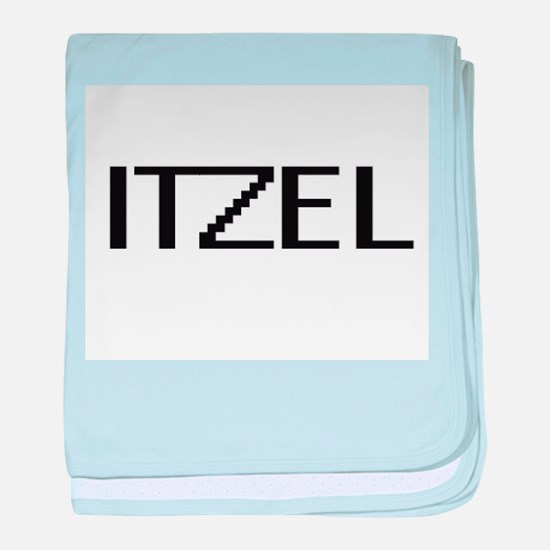 Itzel Digital Name baby blanket