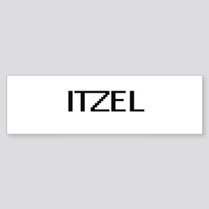 Itzel Digital Name Bumper Sticker