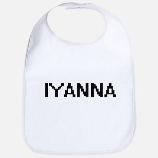Iyanna Digital Name Bib