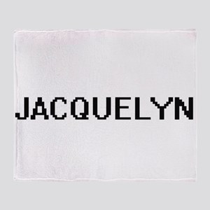Jacquelyn Digital Name Throw Blanket