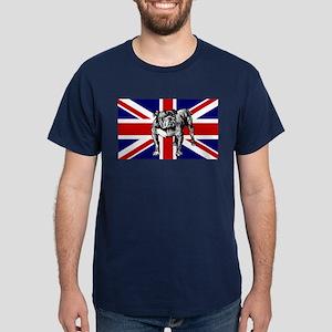 British Bulldog Flag Dark T-Shirt