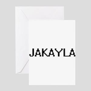 Jakayla Digital Name Greeting Cards