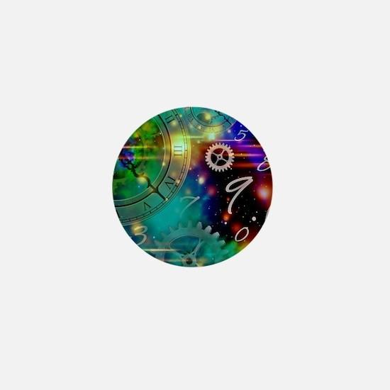 Steampunk Time Universe Mini Button