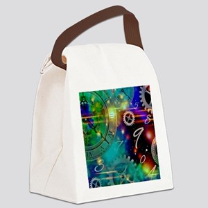 Steampunk Time Universe Canvas Lunch Bag