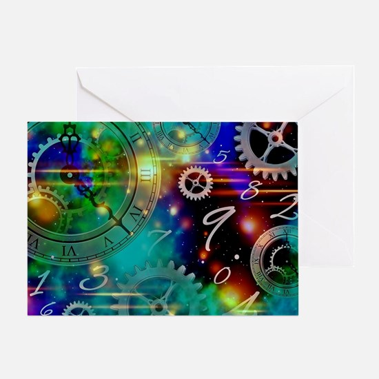 Steampunk Time Universe Greeting Card
