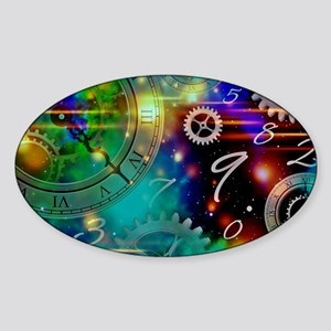 Steampunk Time Universe Sticker (Oval)