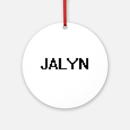 Jalyn Digital Name Ornament (Round)