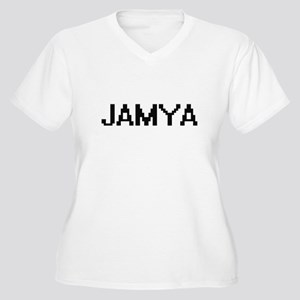 Jamya Digital Name Plus Size T-Shirt