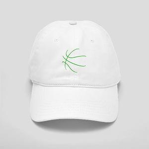Basketball Ball Lines Lime Green Cap