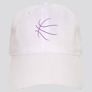 Basketball Ball Lines Purple Cap