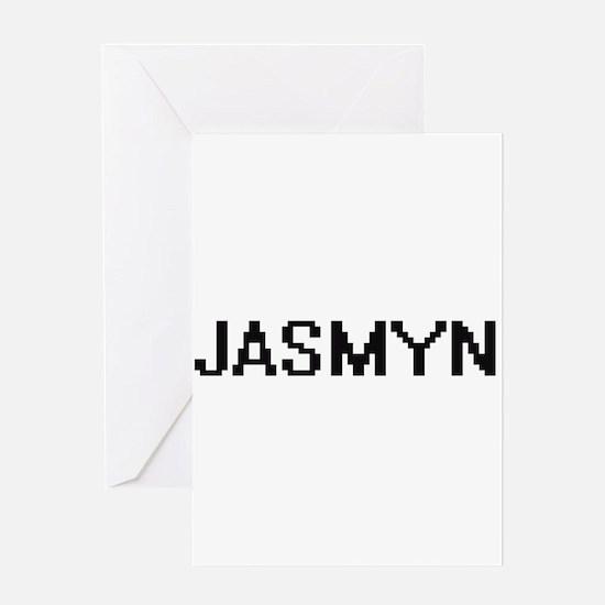 Jasmyn Digital Name Greeting Cards